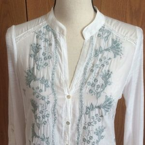Anthropologie TINY Embroidered Blouse